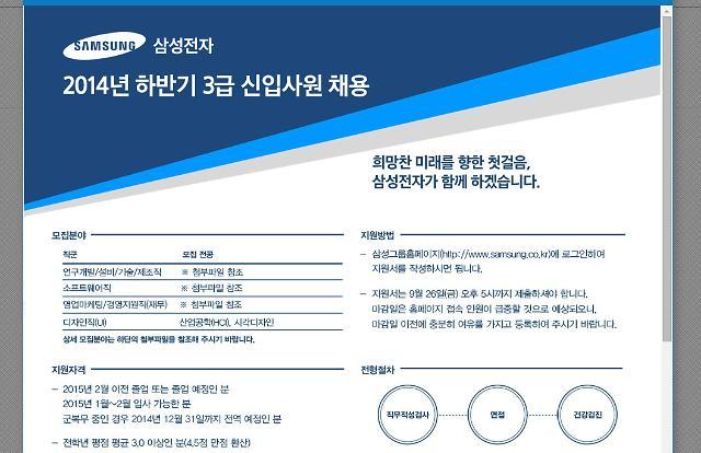 삼성 채용 소식에 네티즌 관심 뜨겁네~