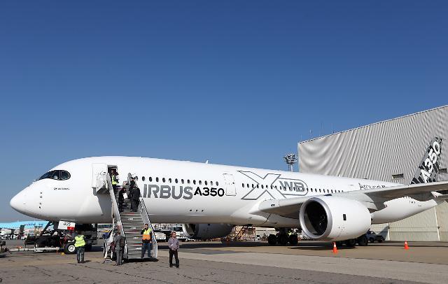 空客A350XWB亮相韩国
