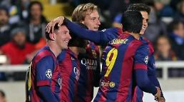 .Messi sets new goalscoring record in UEFA Champions League.