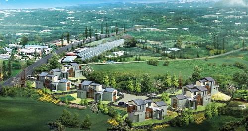 제주 애월읍의 친환경 별장형 빌라 '소길메디치'