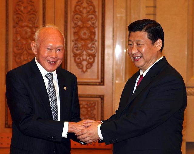 중국 지도부, 리콴유 전 총리 사망에 애도 조전