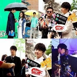 .丁一宇在华拍新片 各路媒体忙采访验证韩星人气.
