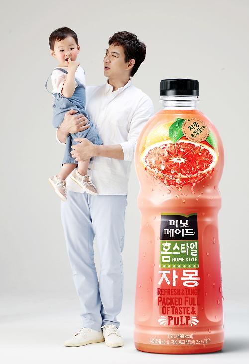 송일국-삼둥이 대한·민국·만세, 광고 B컷 공개 복숭아 같은 민국이