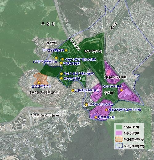 서울시, 양재·우면 일대 R&D 지구로 육성