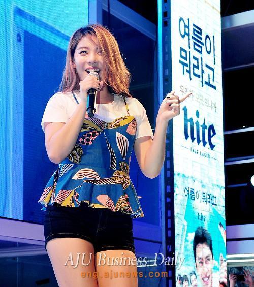 K-pop singer Ailee performs at Hite Beach Concert in Haeundae