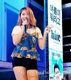 .K-pop singer Ailee performs at Hite Beach Concert in Haeundae.