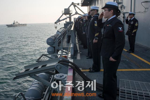 한미 해군, 동해서 연합훈련…핵항모 로널드 레이건호 참가