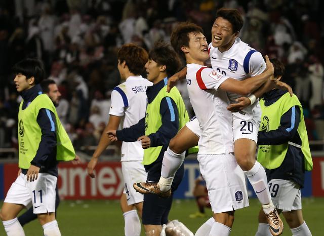 韩足大胜卡塔尔 连续八年征战奥运会