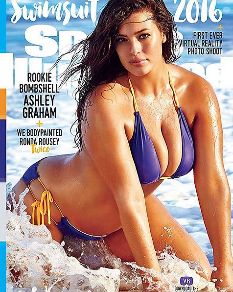Sports Illustrated features plus-sized model for the first time