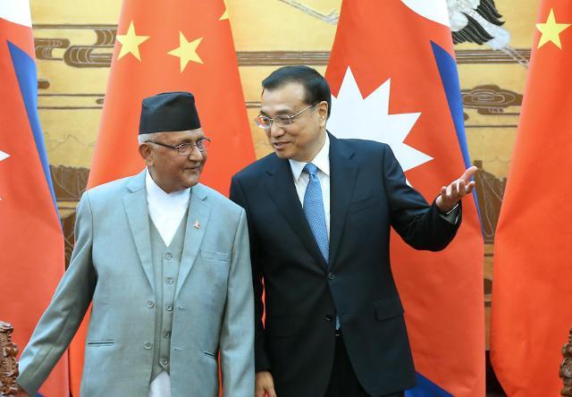 [영상중국] 네팔 총리와 담화 나누는 리커창