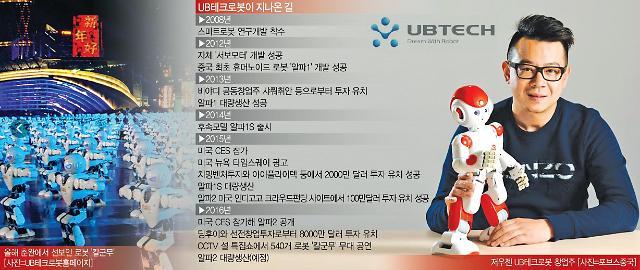 """[중국 창업스토리](27) """"로봇에 꽂힌 5년"""" 첫 작품 알파로 中 과학굴기 선봉에-UB테크로봇"""