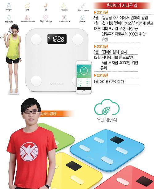 [중국 창업스토리](32) 중국인 계량 습관 맞춘 스마트 체중계…샤오미 반격에도 요지부동―윈마이