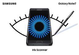 .Samsung unveils Galaxy Note7 with new iris scanner.
