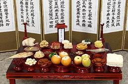 """.韩国人中秋""""茶礼桌""""平均费用25.8万韩币 较去年增10%."""