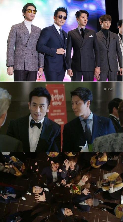 '월계수 양복점 신사들22회'차인표 등,박은석의 방해에도 대상 수상 후 패션쇼 모델로 무대 장식