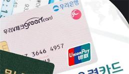 .下月起韩消费者在境外刷银联卡将收取手续费.