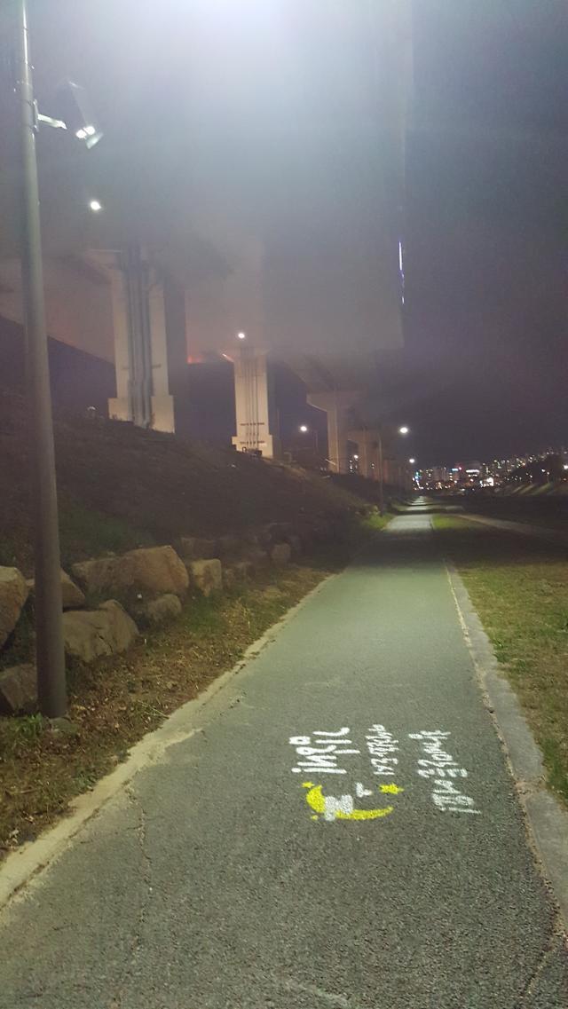 여성친화도시 김해시, 밤길 안전 로고젝터 설치