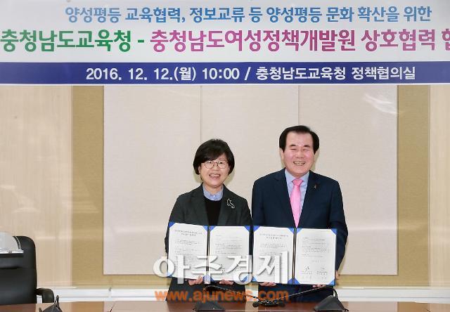 충남도교육청 충남여성정책개발원 상호협력 협약