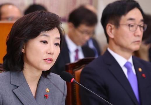 """교문위, 문화계 블랙리스트 집중 질의…조윤선 """"본 적 없다"""" 일관"""