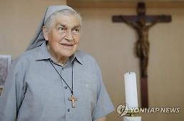 .Italian nun decorated with prestigious order of merit for helping lepers.