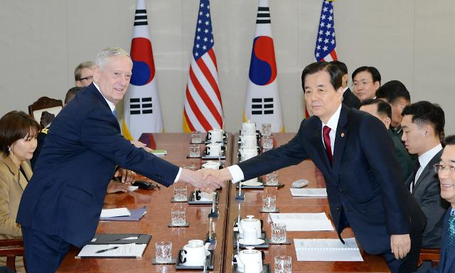 Mattis vows to respond overwhelmingly to N. Korea nuclear weapons: Yonhap