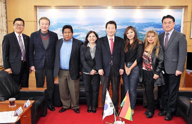 안상수 창원시장, 남미 볼리비아 국회의원 접견