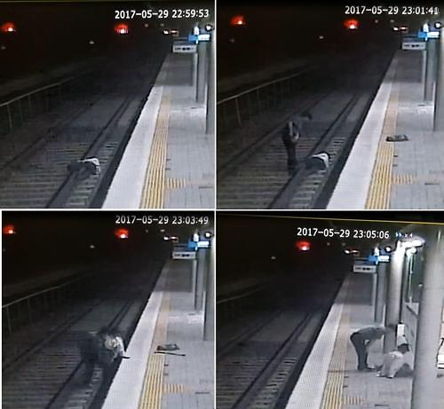 Railway staff saves suicidal 86-year-old just before train arrives