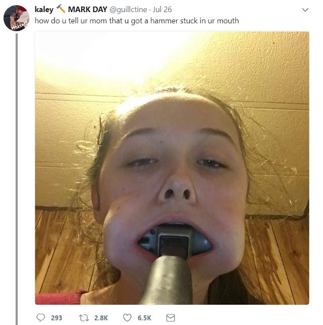 BTS fan shoves hammer in mouth to show affection