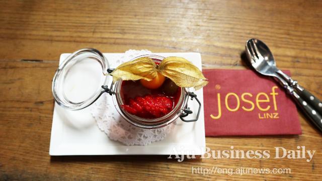 Michelin recommended restaurant, Josef, in Linz, Austria