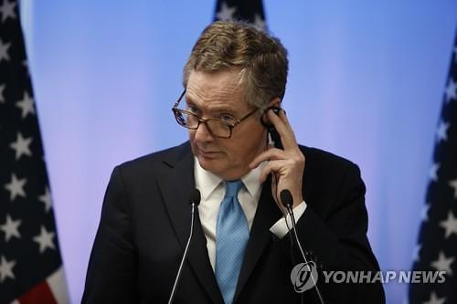 """라이트하이저 美 USTR 대표 """"한미 FTA 개정협상 희망"""""""
