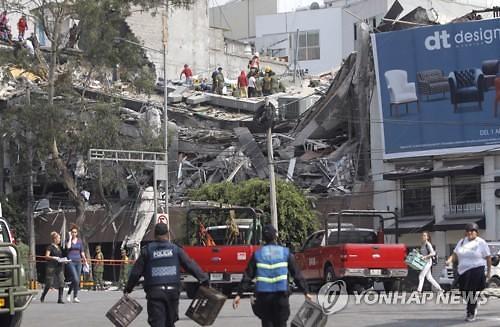 멕시코 지진에 최소 119명 사망...사상자 추가 발생 가능성 높아