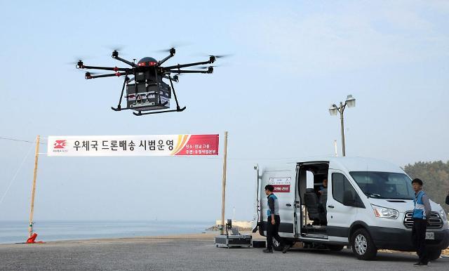 韩国首例无人机配送成功 2022年之前或实现商业化