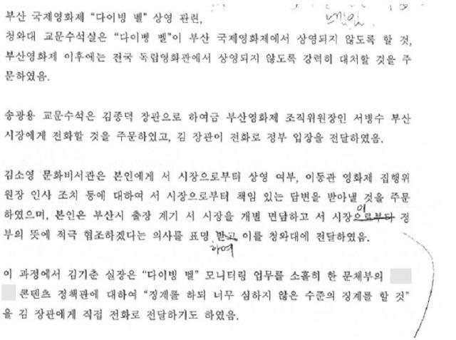 """블랙리스트 진상조사위 """"박근혜 정부, 부산국제영화제 외압 확인"""""""