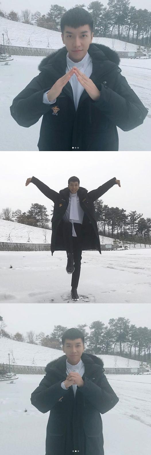 """이승기, 눈덮인 설원 위에서도 집사부일체 향한 애정…""""본방사수!"""""""
