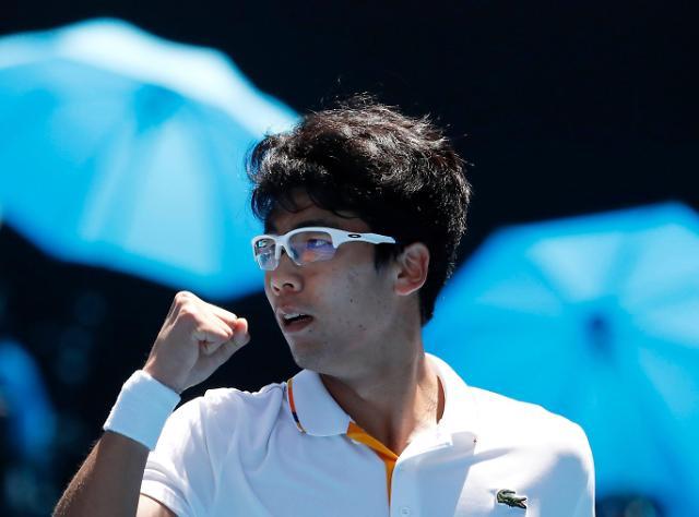 韩国网球选手郑泫晋级澳网男单四强