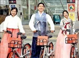 中国共享单车两巨头OFO及摩拜单车骑进韩国