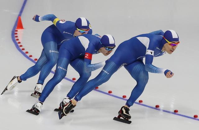 冬奥速滑男子团体追逐 韩国队晋级决赛