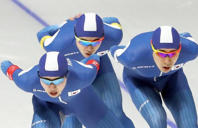 冬奥速滑男子团体追逐 韩国队摘银