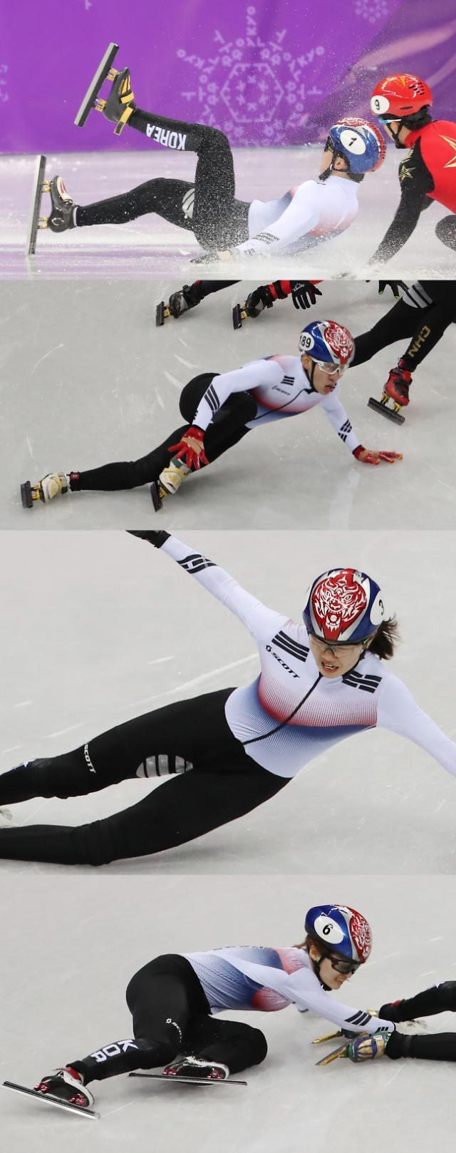 韩国短道速滑今日出师不利 冬奥赛场上演各种摔