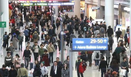 今年1月访韩外国游客减少 中国人同比锐减近五成