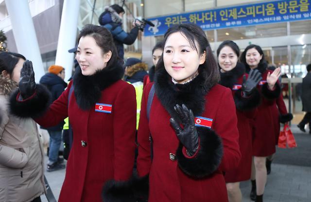 再见!朝鲜啦啦队启程返朝