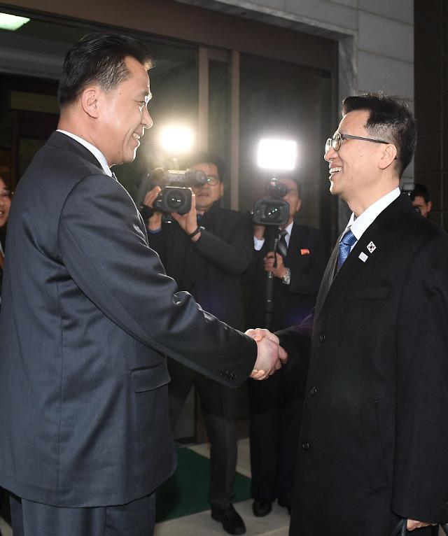 韩朝启动平昌冬残奥工作会谈 金英哲等朝鲜高官团一行返朝