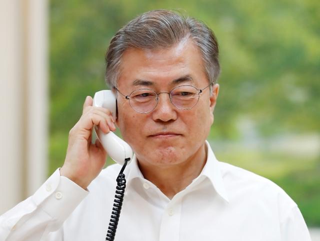 文在寅同特朗普通话 韩方告知拟向朝派特使