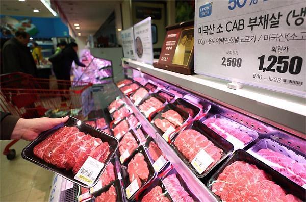 去年美国产牛肉对韩出口量增13% 市场份额反超澳洲升至首位