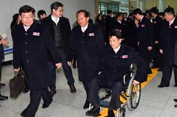 .平昌冬残奥朝鲜代表团结束比赛离韩.