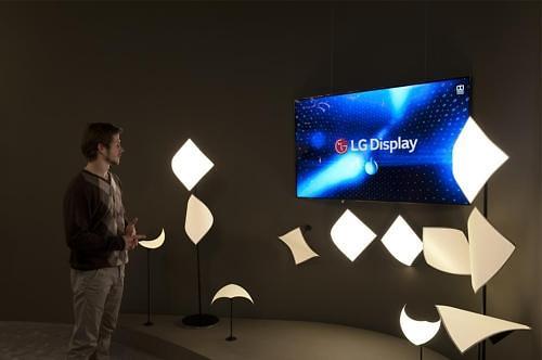 LG Display showcases sound-generating OLED lamp at trade show
