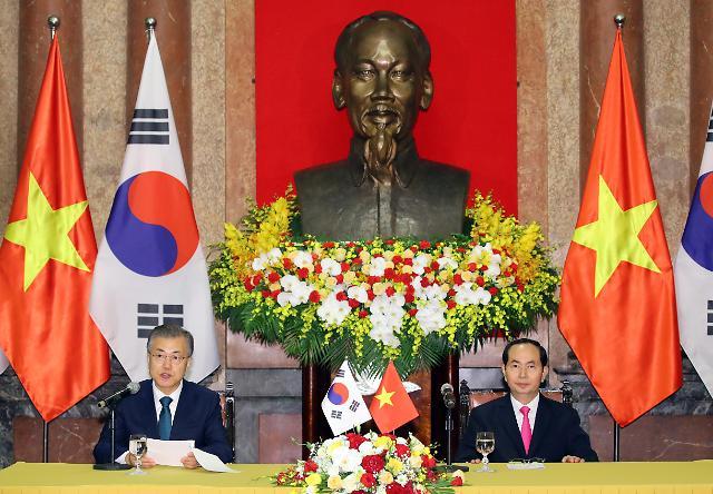韩越首脑会谈在河内举行 发表面向未来共同宣言