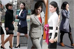 .North Korean women in diverse fashion styles.