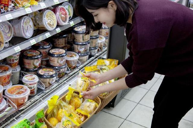 """水果蔬菜牛肉… 韩国便利店""""无所不有"""""""