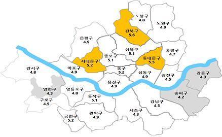 서울시내 주택 전세→월세 전환 강북·동대문 높고, 송파·강동 낮아